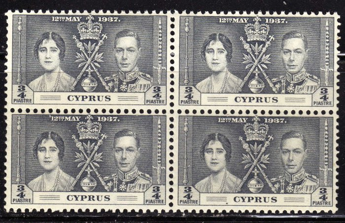 SC0TT# 140, CYPRUS STAMPS KING GEORGE Vl CORONATION ISSUE