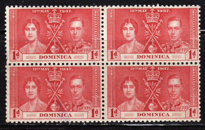 SC0TT# 94 - DOMINICA STAMPS KING GEORGE Vl CORONATION ISSUE