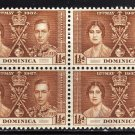 SC0TT# 95 - DOMINICA STAMPS KING GEORGE Vl CORONATION ISSUE
