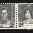 SC0TT# 105,- GIBRALTAR STAMPS KING GEORGE Vl CORONATION ISSUE