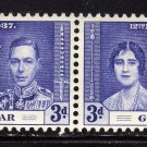 SC0TT# 106,- GIBRALTAR STAMPS KING GEORGE Vl CORONATION ISSUE
