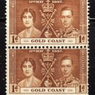 SC0TT# 112 GOLD COAST STAMPS KING GEORGE Vl CORONATION ISSUE