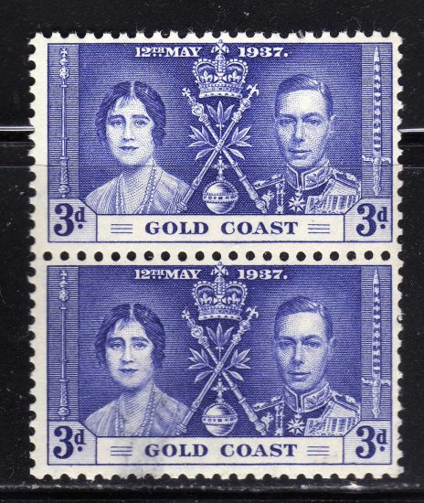 SC0TT# 114 GOLD COAST STAMPS KING GEORGE Vl CORONATION ISSUE