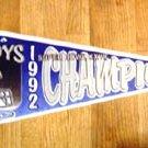 1992 Dallas Cowboys Super Bowl Champions Pennant