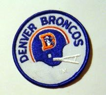 "Denver Broncos Football Patch 3"" Diameter"