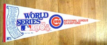 1984 Chicago Cubs World Series Phantom Pennant.