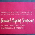 Circa 1950s Kelco Funeral Supply Co Minneapolis, Minn