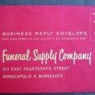 Circa 1950s Kelco Funeral Supply Co Minneapolis, Minn