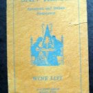 1950s San Remo Restaurant Boston Mass Wine List Menu