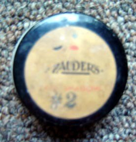 Vintage Zauder's Lip Blue # 2 Rogue in White Glass Jar