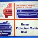 1967 Rambler Rebel Owners Manual Protective Maint