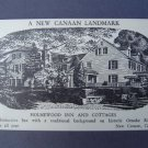 Holmewood Inn & Cottage New Canaan Ct Landmark NM