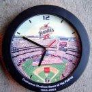 San Diego Padres Baseball Stadium Wall Battery Clock