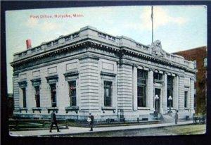 Early 1900's Post Office Holyoke Mass.