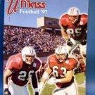 Football Program 1997 University of Mass U MASS Guide