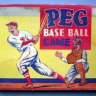 Vintage Peg Baseball Game by Parker Brothers 1930's