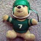 New York Jets Football Vintage Teddy Bear with Helmet