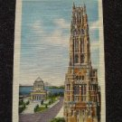Riverside Church & Grant's Tomb NYC Linen Post Card