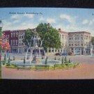 Market Square Bloomburg Pa Linen Post Card