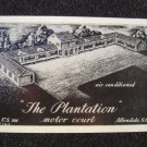 THE PLANTATION Motor Court Allendale S Carolina Linen