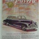 1946 New Pontiac Magazine Tear Sheet Advertisement Ad