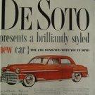 1949 DeSoto Magazine Tear Sheet Advertisement Ad
