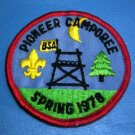 Pioneer Camporee Spring 1978 BSA Boy Scout Patch
