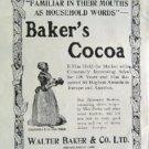 1908 Baker s Cocoa Good Housekeeping Advertisement