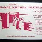 1981 18th Hancock Shaker Village Kitchen Festitval NM