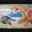 Vintage Thanksgivings Greeting Large Turkey Postcard EX