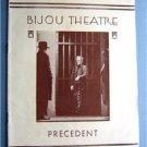 Vintage 1931 Bijou Theatre Program ~ Precedent