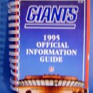 1995 New York Giants Football Offl Information Guide