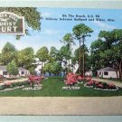 The Sea Gull Tourist Court Biloxi Miss. Linen Post Card
