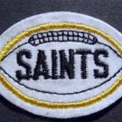 "New Orleans Saints Football Cloth 2 3/4"" Patch Black"