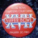 Super Bowl XVII Football Pin 1983 Rose Bowl 3 1/4""