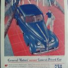 1939 Pontiac GM Magazine Tear Sheet Advertisement Ad