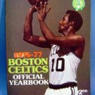 1976-77 Boston Celtics Basketballl Yearbook