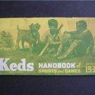 Keds U S Rubber Co Handbook of Sports & Games 1939 VG