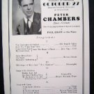 1931 Peter Chambers Piano Phila Grand Program Town Hall