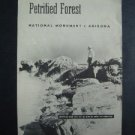1955 Petrified Forest Nation Monument Travel Bklt w/map