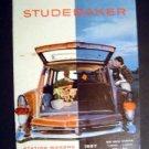 Vintage 1957 Studebaker Station Wagon Auto Car Brochure