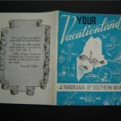 1953 Vacationland A Panorama of Southern Maine Booklet