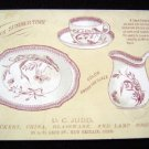 1887 A D Judd New Britain Ct Crockery China ~Trade Card