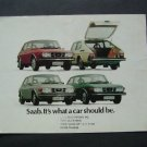 Saab 99 Auto Car Dealer Showroom Brochure