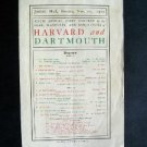 1911 Harvard Dartmouth Joint Concert Music Jordan Hall