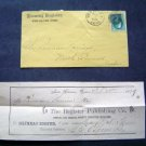 1879 New Haven Ct Register Recept w/orig Mail Envelope