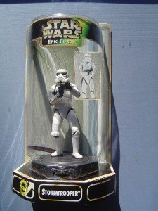 Star Wars Epic Force Rotates Figure Stormtrooper 1998 M