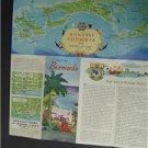 1950s Key To Bermuda Isles of Summer Travel Brochure