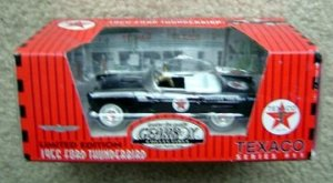 TEXACO PEDAL CAR 1956 FORD THUNDERBIRD BLACK #11 MIB