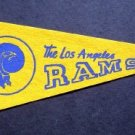 "Vintage 1970's NFL Los Angeles Rams 12"" Mini Pennant"